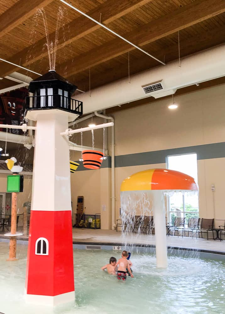Hershey Lodge water park indoor slides for toddlers