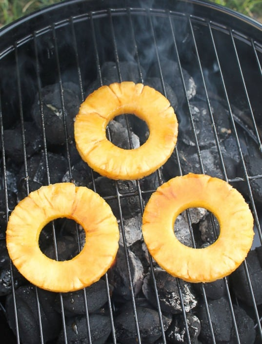 how to grill brown sugar pineapple