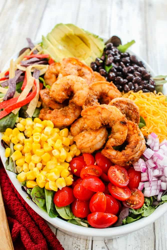 Easy Shrimp Taco Salad Recipe