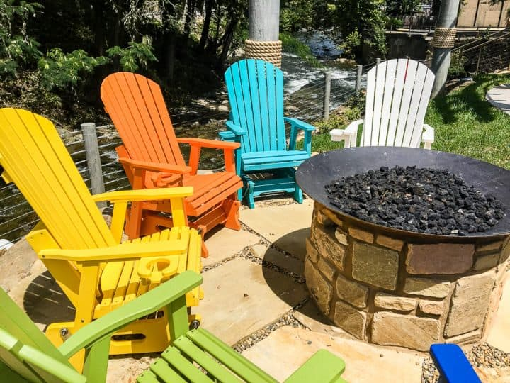 Margaritaville Resort Gatlinburg fire pit area