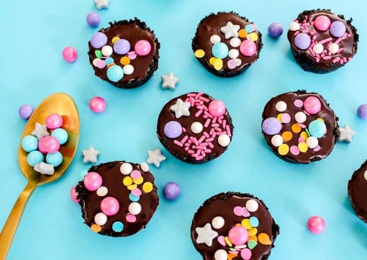 how to make caramel ganache mini tarts for unicorn party favors