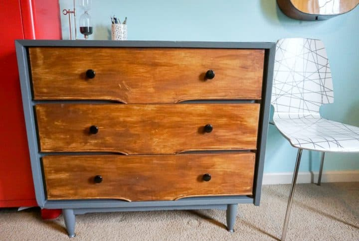modern rustic dresser DIY makeover