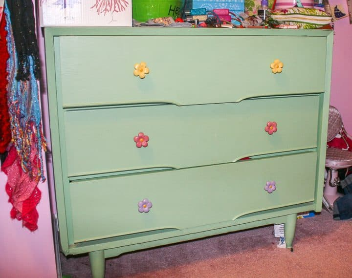 modern rustic dresser makeover