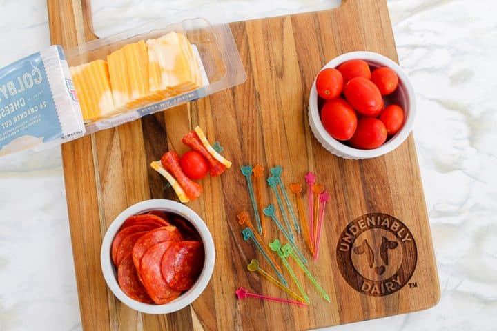 How to make pizza kabobs for bento lunch box ideas