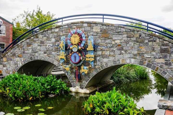 Zodiac Bridge on Carroll Creek in Frederick MD