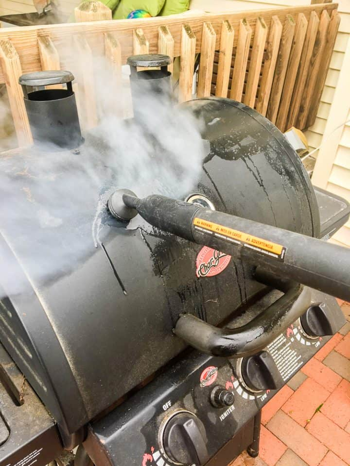 How to clean a grill with a steam machine-7