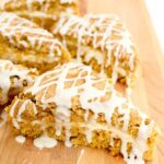 Pumpkin Scone Recipe with cream cheese filling and glaze-5