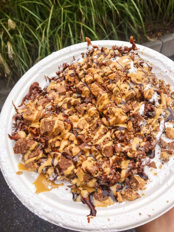 Reese's Peanut Butter Cup Funnel Cake