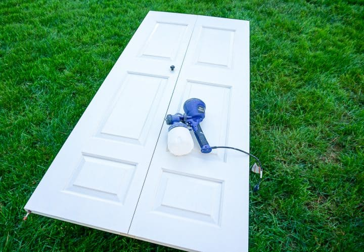 how to paint doors with a sprayer