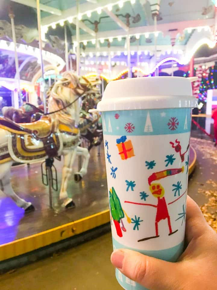 Christmas Candylane at Hersheypark drink refill cups