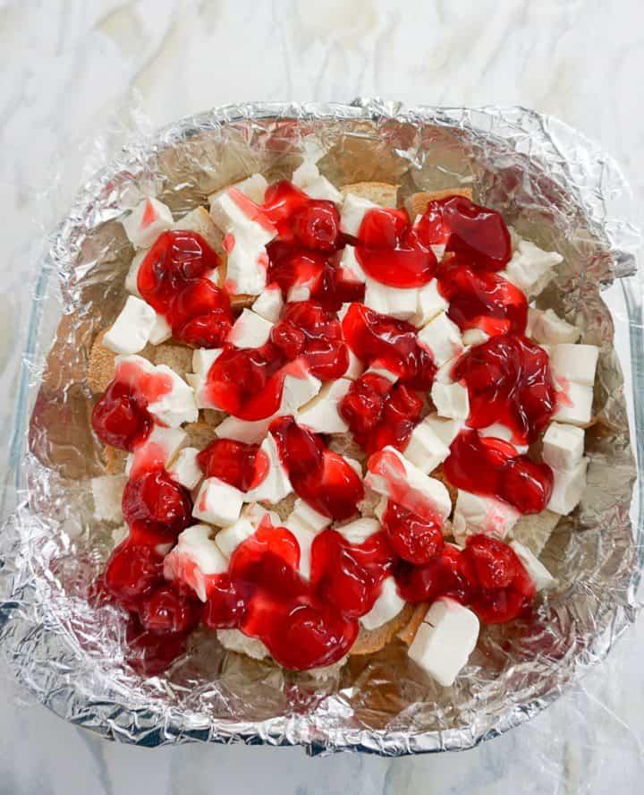 Freezer Cherry French Toast Casserole