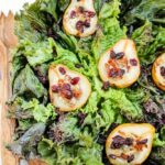 Roasted Pear Salad with Bleu Cheese Bacon Balsamic Dressing