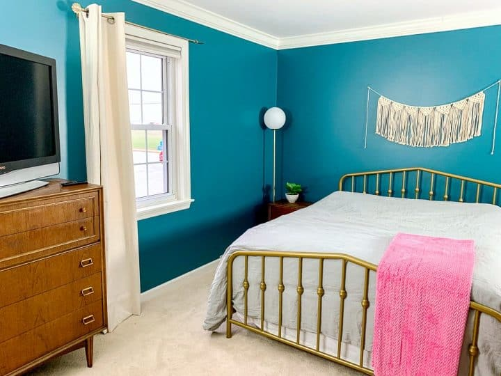 master bedroom makeover novogratz bed gold