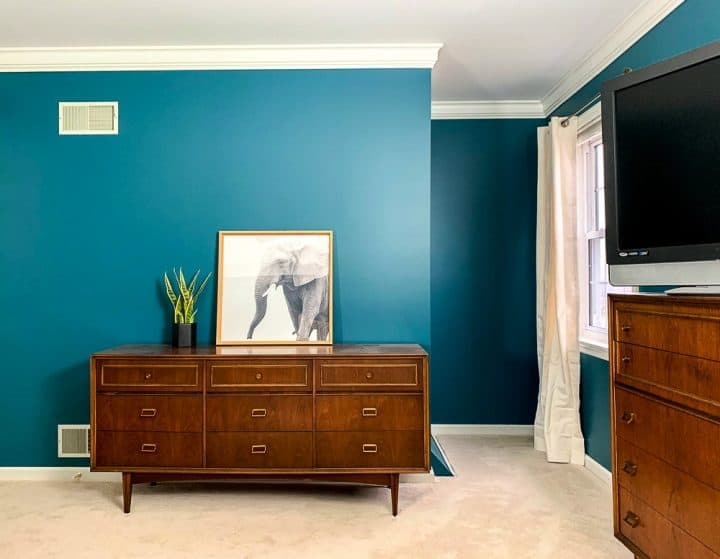 master bedroom makeover sherwin williams deep sea dive