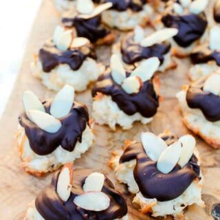 Almond Coconut Macaron Cookies Dipped Recipe