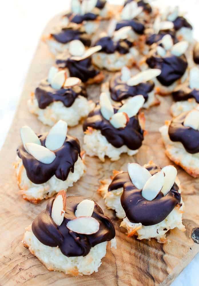 Almond Coconut Macaron Cookies Dipped Recipe