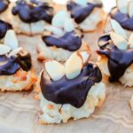 Almond Coconut Macaroon Cookie Dipped in Chocolate Recipe-6