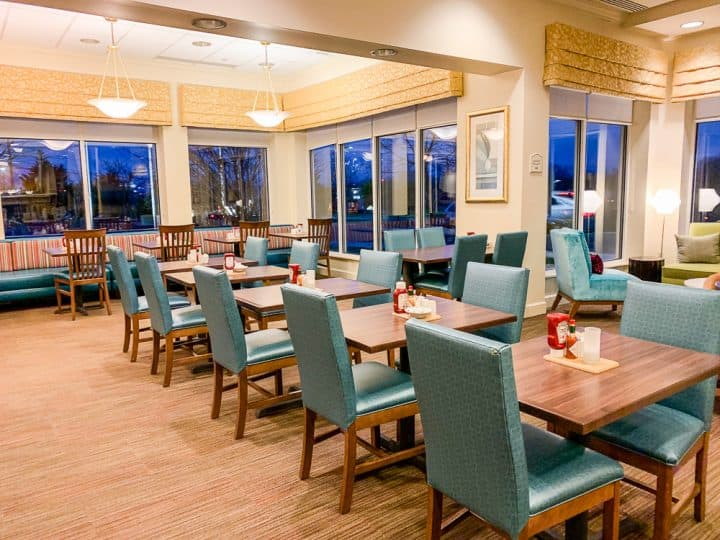Gettysburg Hilton Garden Inn breakfast