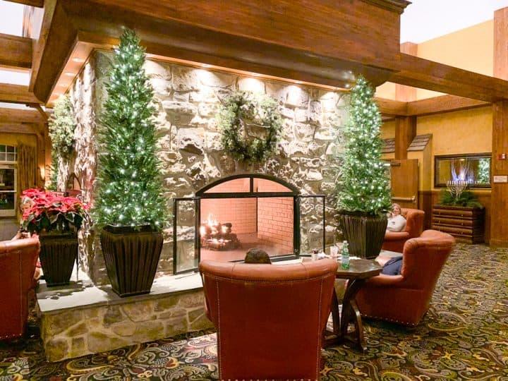 Hershey Lodge at Christmas