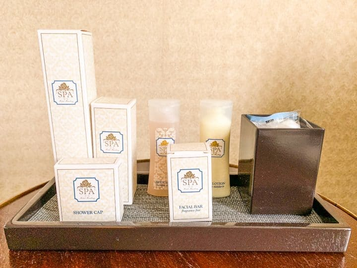 Hotel Hershey spa products