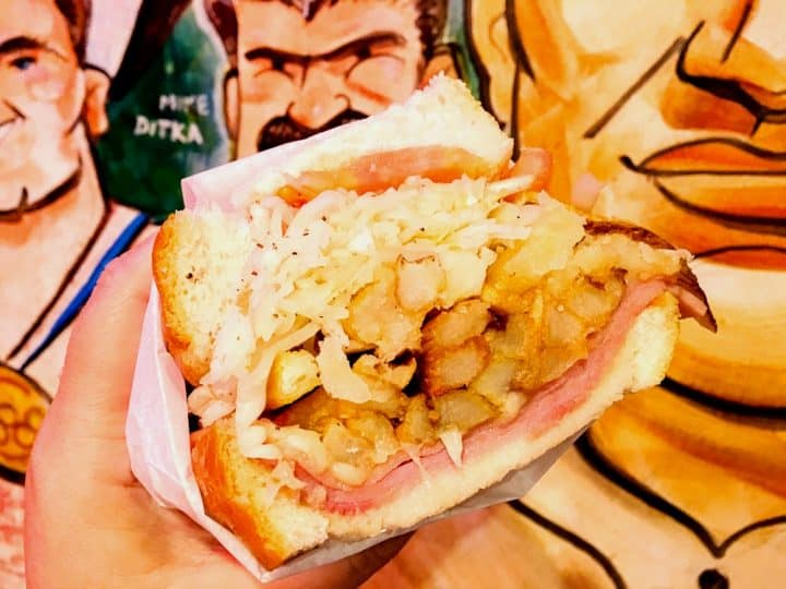 Pittsburgh original Primanti Brothers sandwich