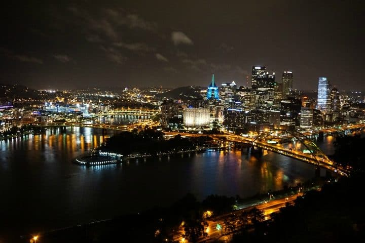 Skyline night Duquesne Incline