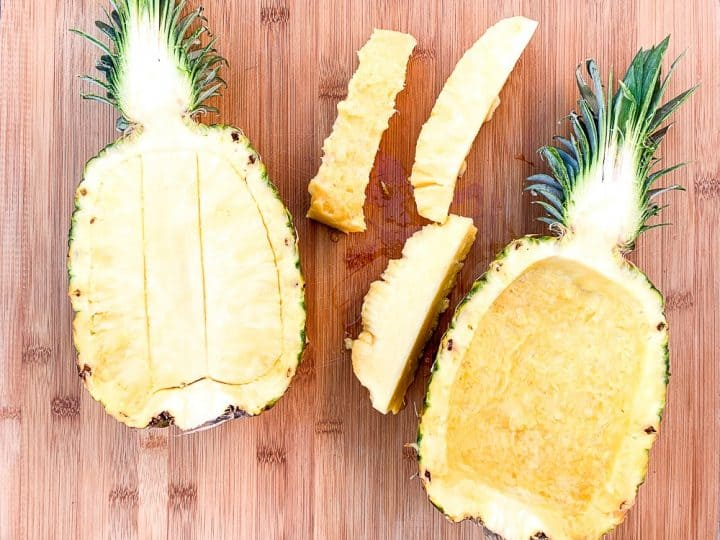 how to grill a pineapple boat
