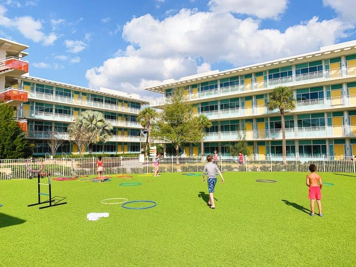 turf play field at Cabana Bay Beach Resort