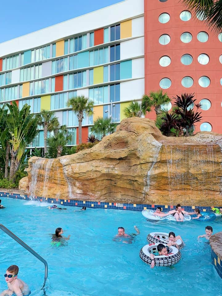 lazy river at Cabana Bay Beach Resort in Orlando FL