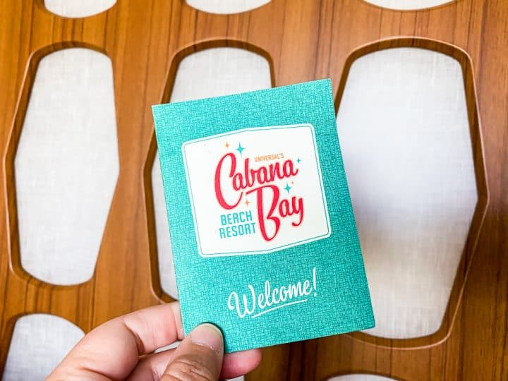 key card for the cabana bay beach resort
