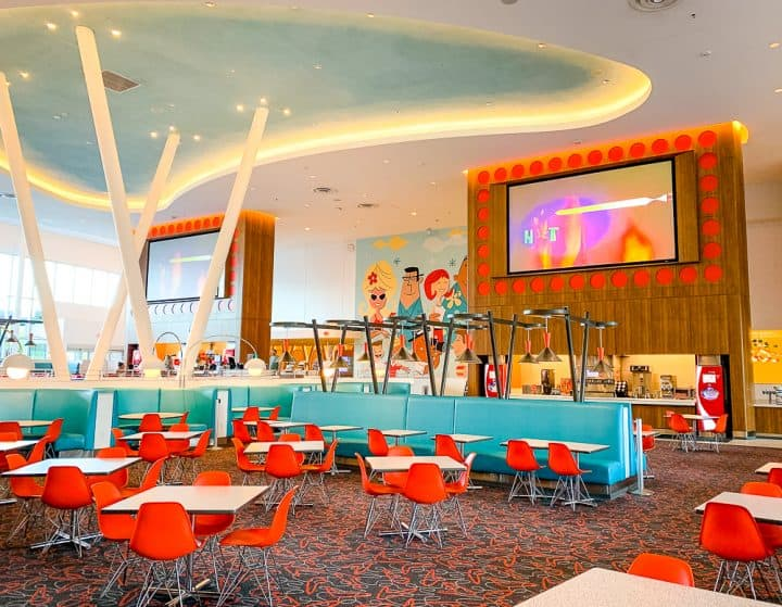 retro 50's style food court at Cabana Bay Beach Resort