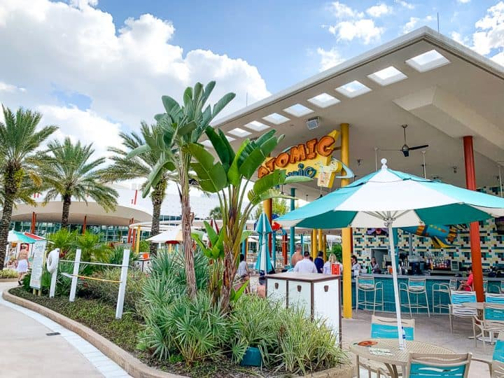 poolside restaurant at the Cabana Bay Beach Resort