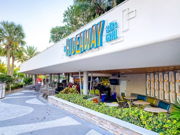 The Hideaway bar and grill at Cabana Bay Beach Resort in Universal