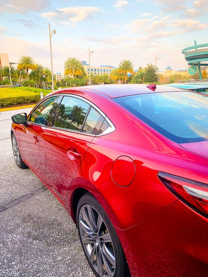red Mazda 6 signature car exterior shot