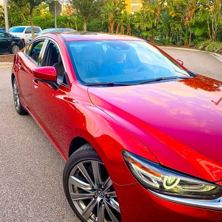 red Mazda6 signature car