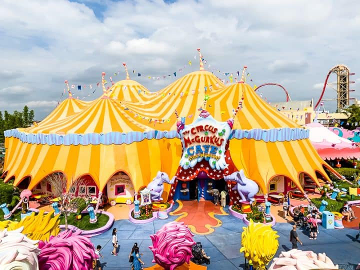 Suess Landing carnival tent at Universal Studios Islands of Adventure