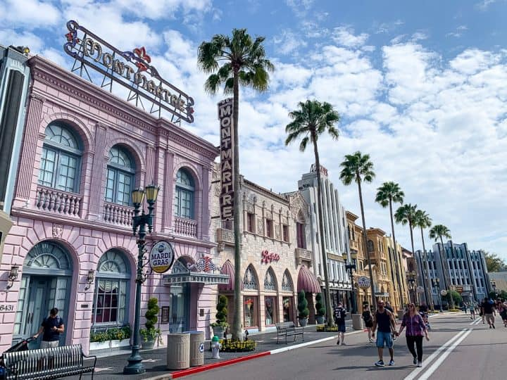 brightly colored buildings in Hollywood Universal Studios Florida
