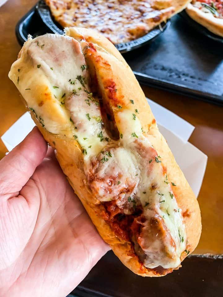 meatball sub at Louie's Italian Restaurant at Universal Studios