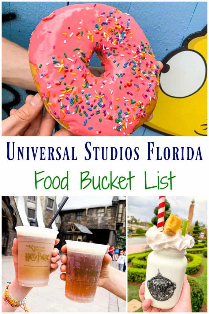 food bucket list items for Universal Studios Orlando