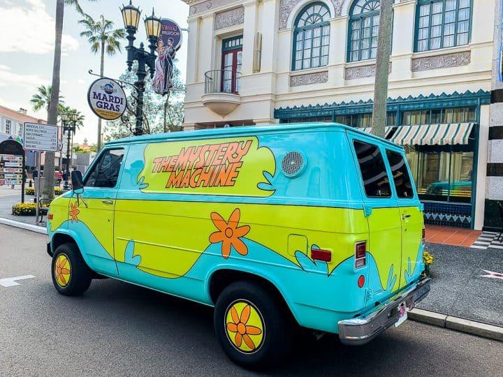 Scooby Doo van in Universal Studios Florida