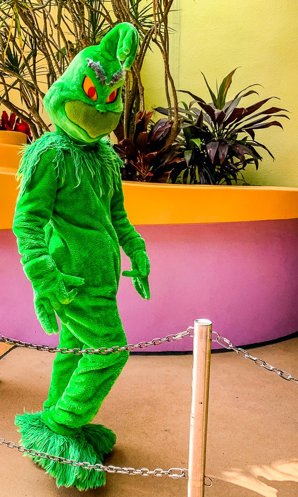 the Grinch at Seuss Land Universal Studios Florida