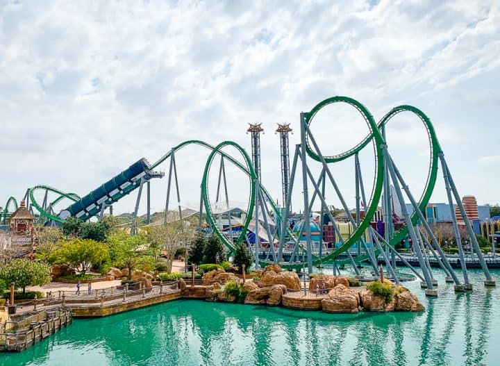 Incredible Hulk roller coaster at Universals Islands of Adventure