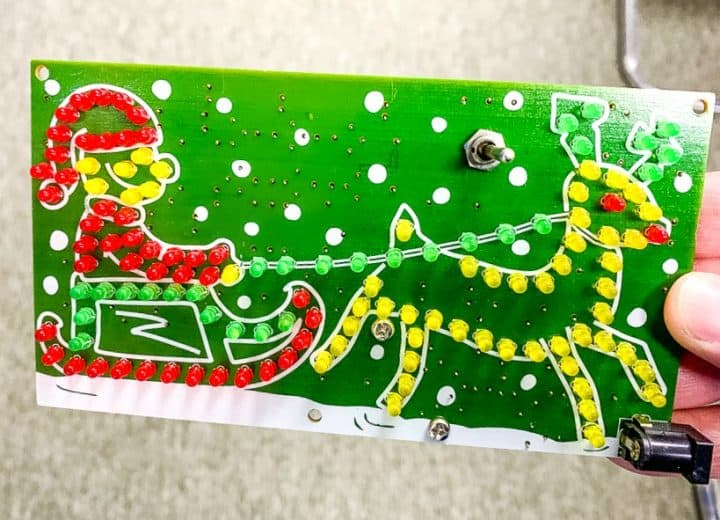 Christmas circuit board