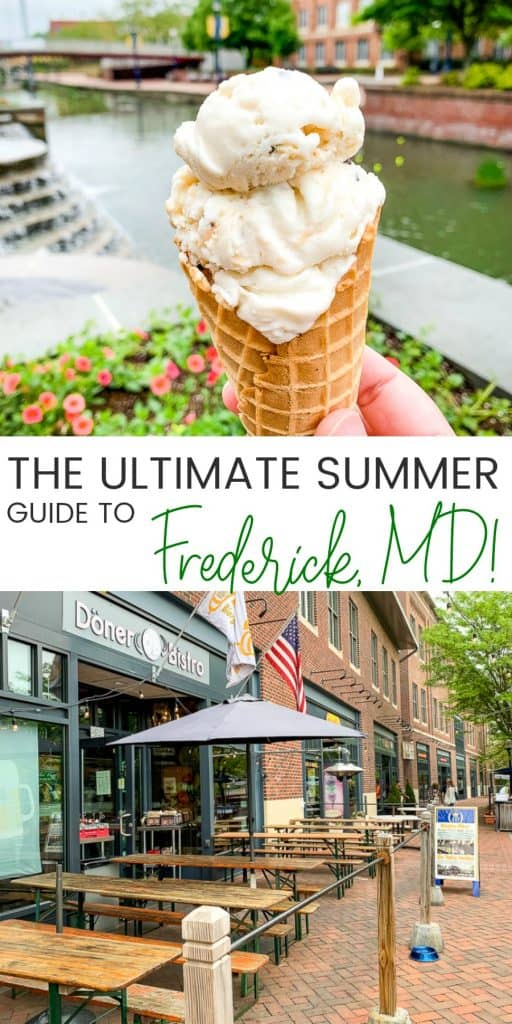 Summer activities calendar for Frederick MD