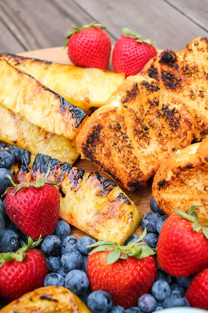fruit and grilled angel food cake dessert board