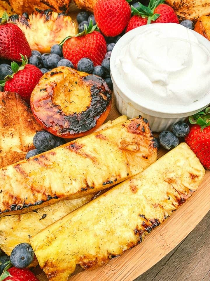 grilled pineapple and fruit tray