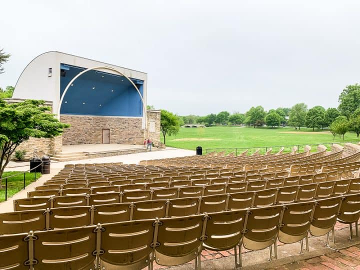 outdoor concert pavilion at Bakery Park in Frederick MD