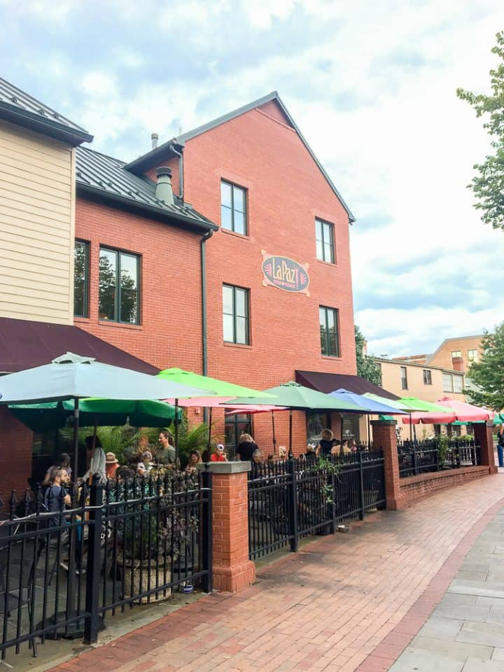 outdoor patio area of restaurants in Frederick MD