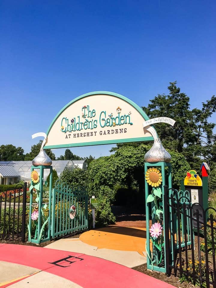 children's garden entrance at the hershey Gardens