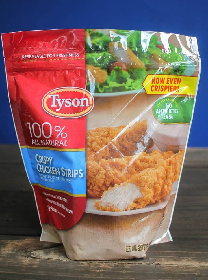 bag of Tyson crispy chicken strips